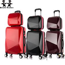 travel luggage bags images Wenjie brothernew 2pcs set shinning 14inch 20inch cosmetic bag men jpg