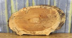 reclaimed maple natural edge oval cut centerpiece wood tree slice