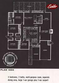 eichler floor plans eichler floor plan 1224 valine