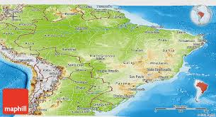 map of brazil physical panoramic map of brazil