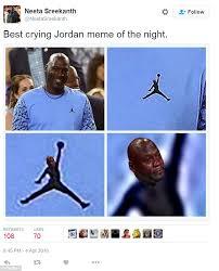 Meme Jordan - sad michael jordan meme erupts on twitter after north carolina