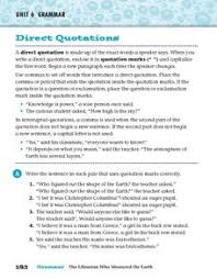 direct quotations 3rd 4th grade worksheet lesson planet