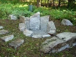 Granite Fire Pit by Maine Stonework Masonry Hardscaping Perennial Stone Granite