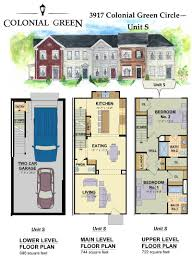 town house floor plans roanoke townhouses lots gc02 4 colonial green