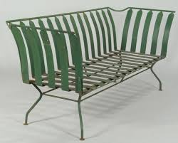 French Style Patio Furniture by Lot 589 French Art Deco Patio Furniture Settee U0026 3 Chairs