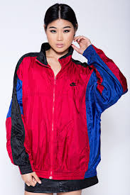 nike windbreaker vintage nike windbreaker burgundy blue blk one without end