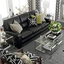 Black Sofa Living Room How To Decorate A Living Room With A Black Leather Sofa Decoholic