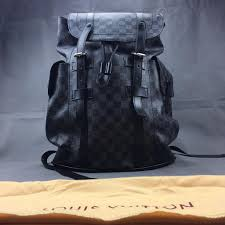 louis vuitton christopher pm black and grey monogram backpack lv