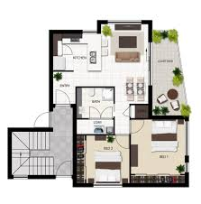 Plan Apartment by 2d Plan Symbols 2d Plan Images