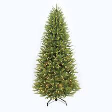 shop puleo international 7 5 ft pre lit slim artificial christmas