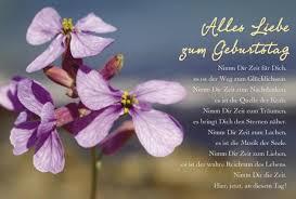 geburtstagssprüche karte schöne geburtstagskarte alles liebe zum geburtstag blume lila