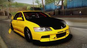 mitsubishi yellow mitsubishi lancer evolution ix tuned for gta san andreas