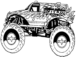 coloring monster truck coloring pages