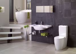 contemporary master bathroom with slate wall tiles u0026 concrete tile