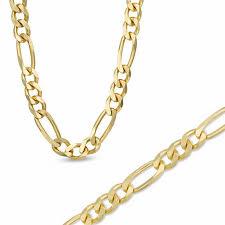 mens gold bracelet links images Men 39 s 7 3mm figaro link bracelet in 14k gold over sterling silver jpg