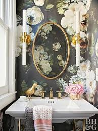 Best Wallpaper For Dining Room by Top 25 Best Small Bathroom Wallpaper Ideas On Pinterest Half