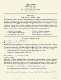 Objective Examples Resume by Attorney Resume Example