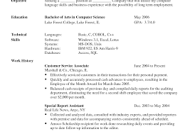skill exle for resume 2 cover letter contoh resume computer science cv internship sles exle