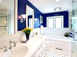 cobalt blue color walls in a modern white bathroomblue sparkle
