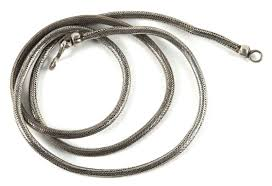 silver chain necklace snake images Antique indian snake chain belt or necklace round 4 mm high jpg