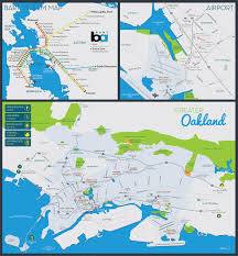 Bart System Map by Oakland Visitor Map Mmm Design