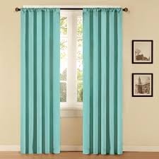 Curtains For French Doors In Kitchen by Shop Style Selections Style Selections 84 In L Solid Aqua Thermal