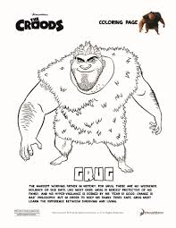 grug croods coloring pages hellokids com