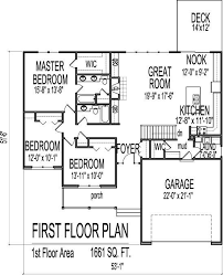 ranch floor plans with basement 3 house plans with basement luxury 1661 square ranch