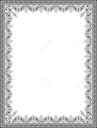 detailed floral ornament border frame royalty free cliparts vectors