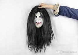 Black Mask Halloween Costume 2015 Halloween Horror Nights Grudge Sadako Head Mask