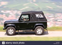 land rover convertible black land rover defender convertible two td5 model year 2006 black