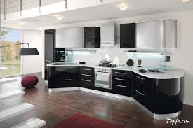 stunning italian modern kitchen design with black gloss backsplash