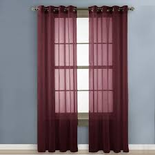 Sheer Maroon Curtains Maroon Sheer Curtains Best 25 Voile Curtains Ideas On