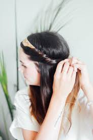 headband roll hair tutorial half up headband roll treasures travels