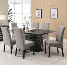 value city furniture dining room sets sets dark gray fabric seat