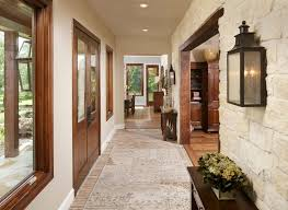 Stone Wall Sconce Wall Wood Trim Designs Entry Mediterranean With Stone Interior