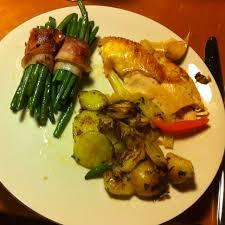 cuisiner des haricots verts frais poulet rôti fagots de haricots verts frais et pomme de terre a la