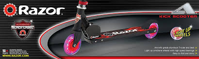 razor kick scooter light up wheels amazon com razor light u wheels black label a scooter red toys