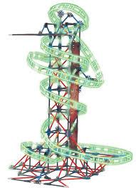 k nex thrill rides web weaver roller coaster building set