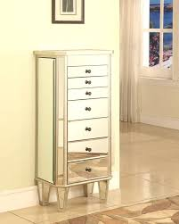 powell mirrored jewelry armoire with