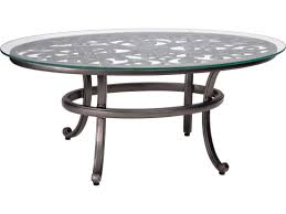 glass top patio table rim clips woodard new orleans cast aluminum x round glass top coffee picture