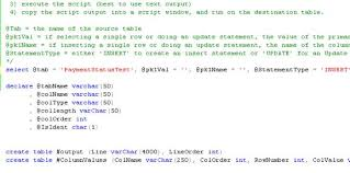 t sql insert into new table creating automatic insert and update statements from sql tables