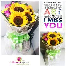 Sunflower Bouquets The Flowers Express Philippines Send Flowers With Feelings