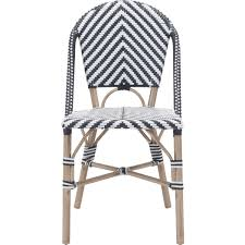 White Patio Dining Sets - zuo modern 703805 paris outdoor dining chair in black u0026 white poly