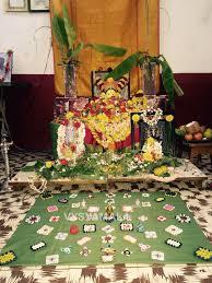ganesh chaturthi home pooja vysyamala vinayagar decoration 2015