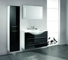 bathroom furnishings bathroom cabinet black white mirror