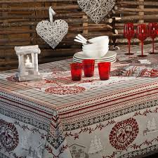 nappe en coton enduit linge de table beauvillé