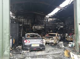 porsche jdm warehouse full of jdm cars burns down in the uk gtspirit