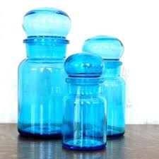 antique kitchen canisters blue glass canisters for the kitchen blue glass kitchen canisters