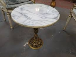 small marble top table sold vintage antique small marble top round pedestal side drinks